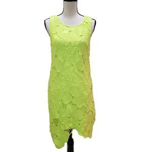 NWT! Ark & Co. Neon Yellow Lace Dress, Size S